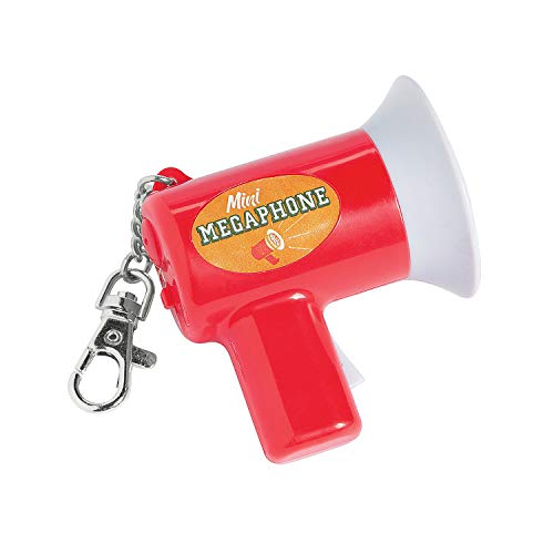 Fun Express - Mini Megaphone Keyring - Apparel Accessories - Key Chains - Novelty Key Chains - 1 Piece]()