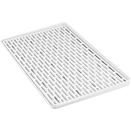 Acrux7 Drain Tray for Food, Drinks, Dishes and Kitchen Utensil Drying, Drainboard Tray, Plastic Drip Tray, Gray 16 x 9""