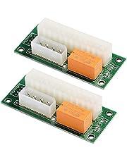 MZHOU Dual Power Supply Adapter 24-PIN Riser Card Voor de Bitcoin Mining Powered Adapter Card (ATX 24-PIN Naar Molex 4-PIN)