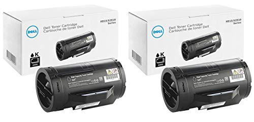 Dell 47GMH High Yield Toner Cartridge 2-Pack for H815DW, S2810DN, S2815DN Laser Printers 2 Pack