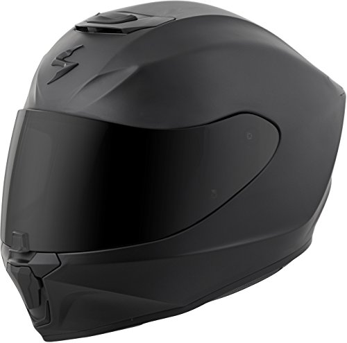 (Scorpion EXO-R420 Solid Adult Street Motorcycle Helmet - Matte Black/Large)