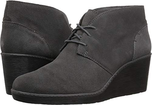 CLARKS Women's Hazen Charm Fashion Boot, Grey Suede, 075 M US