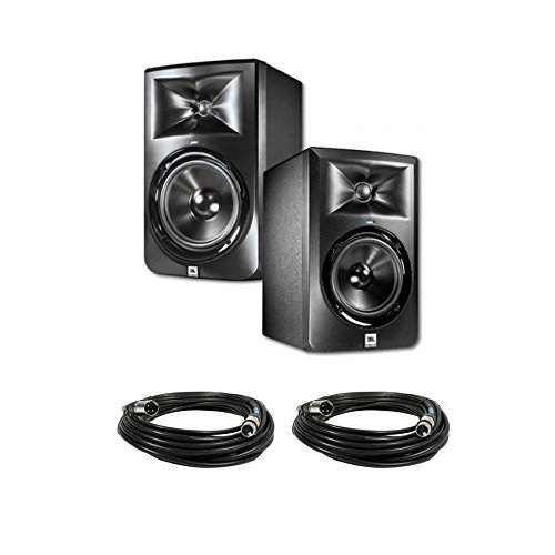 JBL LSR305 5 in. Studio Monitors with cables Bundle by JBL