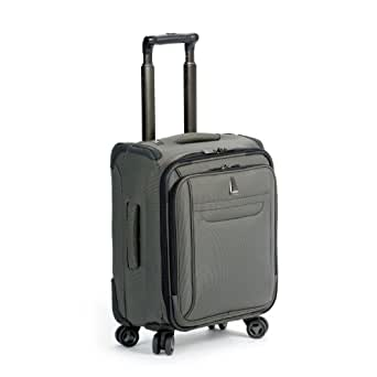 Delsey Luggage Helium X'pert Lite Personal Ultra Light 4 Wheel Spinner Tote, Gray, 18 Inch