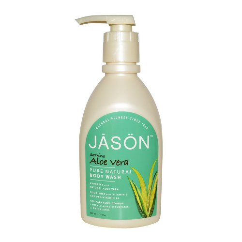 Price comparison product image Jason Natural Products Aloe Vera Satin Shower Body Wash, 30 Ounce -- 3 per case.
