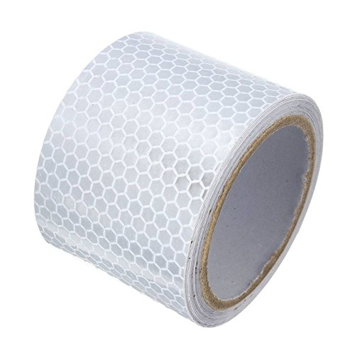 Reflective Safety Tape - 1 Piece 5 X 3m Silver White Reflective Safety Warning Tape Sticker -