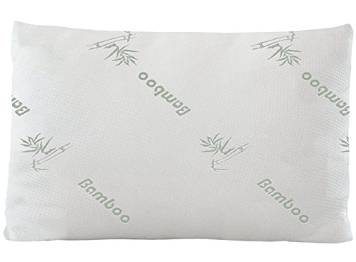 Home With Comfort Bamboo Pillow-Hotel Quality Pillow with Cool Bamboo Cover-Fiber Filled in the USA (Queen)