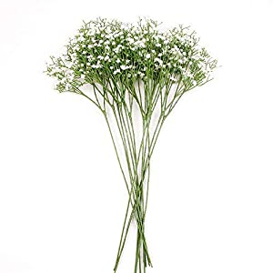 MARJON Flowers12 Pack Artificial Flowers Babies Breath Flowers Fake Gypsophila Plants Bouquets for Wedding Home DIY Decoration 115