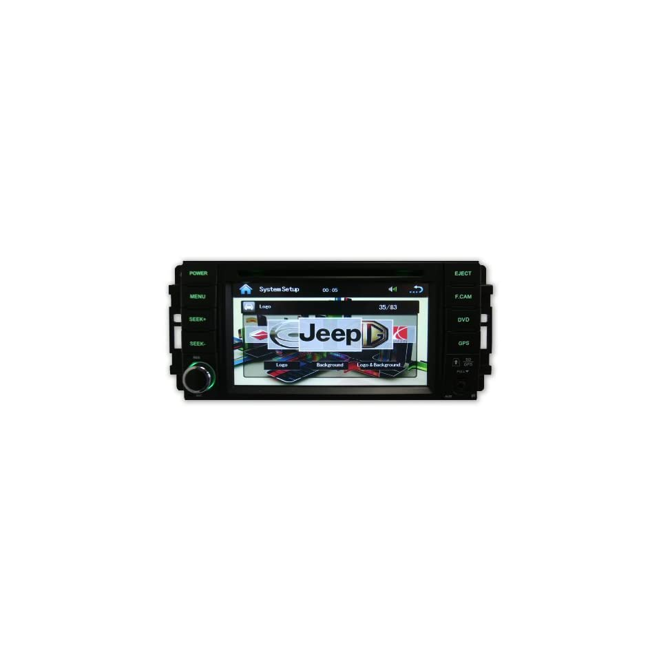 Jeep Patriot 09 11 OEM Replacement OEM Fitment In Dash Double Din Touch Screen iPod DVD GPS Navigation Radio 2009 2011  In Dash Vehicle Gps Units  GPS & Navigation