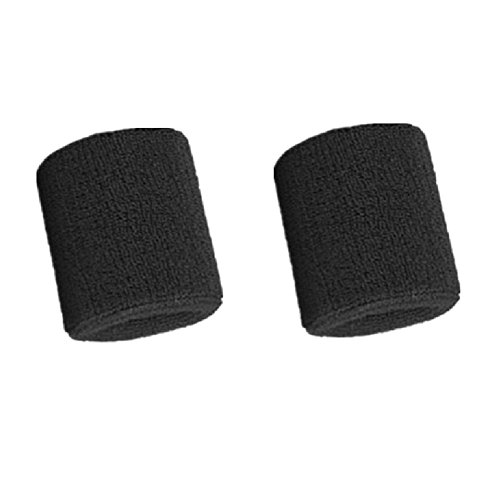 Kagogo 3 Inch Cotton Sports Wristband / Sweatband For Basketball Tennis And Other Sports, Price/Pair (Black)