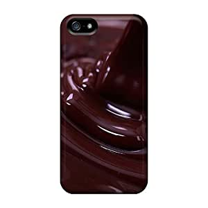 Protective Tpu Case With Fashion Design For Iphone 5/5s (chocolate) wangjiang maoyi