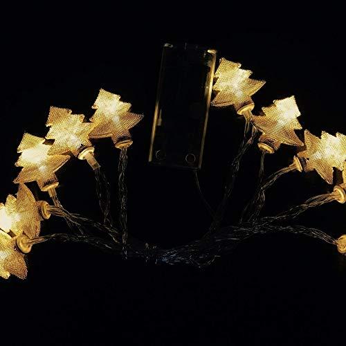 XYDEXHN Árbol De Navidad De Hierro Forjado Caja De La Batería Luces De La Cadena Luces De Navidad Festival Decoración De...