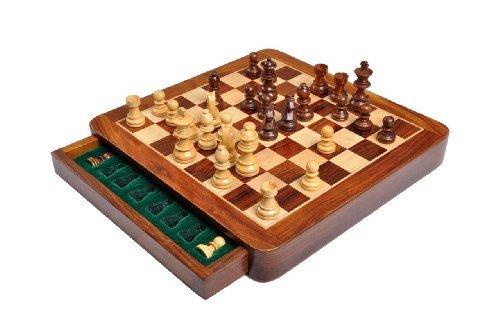 【再入荷!】 The Chess House of Staunton Square The Wooden Magnetic Travel Chess Wooden Set - 10