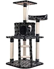 Cat Scratching Tree Post Scratcher Pole Condo Gym Furniture Tall Grey 120cm