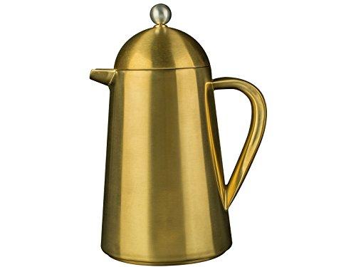 La Cafetière–Cafetera térmica aislada (para 8Tazas)–Cafetera Estilo Prensa Francesa, Acero Inoxidable, Brushed Gold, 1,8 kg Aprox.