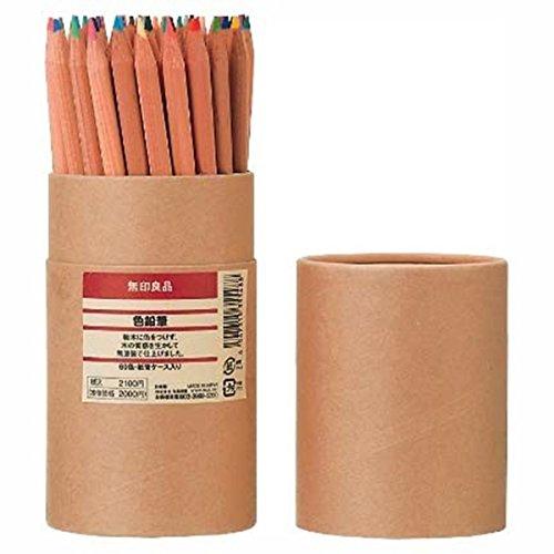 MUJI 60 ColoRed Pencils in Tube