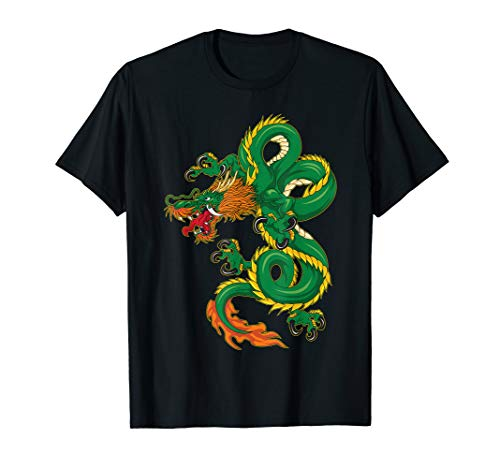 Cool Green Chinese Dragon T-Shirt