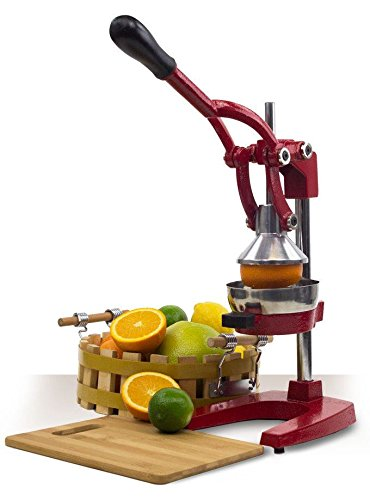 Heavy Duty Press Commercial Manual Orange Citrus Juicer Juice Extractor RED (Red Cast Iron Citrus Juicer compare prices)