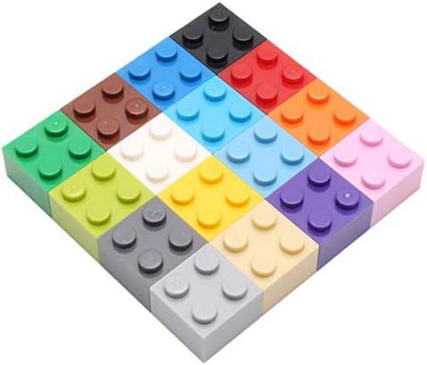 EKIND 240 Pieces 2×2 Shapes Classic Building Bricks Set – Regular Colors – Compatible with All Major Brands
