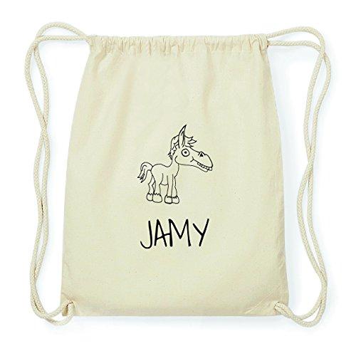 JOllipets JAMY Hipster Turnbeutel Tasche Rucksack aus Baumwolle Design: Pferd