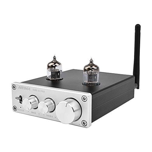 - AIYIMA Audio 6J1 Tube Preamplifier Bluetooth 5.0 HiFi Treble & Bass Adjustment Audio Preamplifier DC12V Amplifier Preamp NE5532P Chips for Home Theater System(Silver+BT 5.0)