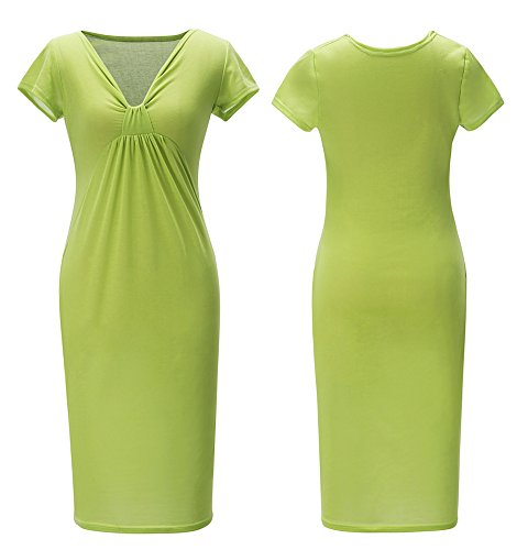 Work Dress Green to Bodycon Midi Out Homecoming Wear Sexy Fruit Curve Women's 76UwRU
