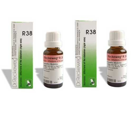 2 Pack X Dr.Reckeweg-Germany R38 Homeopathic Medicine