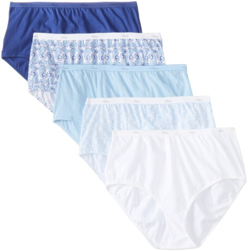 Hanes Womens Cotton Briefs - Hanes Plus Size Women's Cotton Briefs 5 pack, Assorted 12