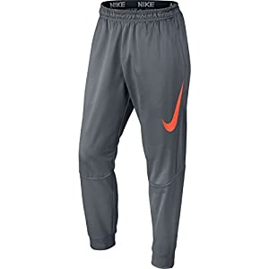 Nike Mens Therma Tapered Graphix Training Sweatpants Cool Grey/Hyper Crimson 800317-065 Size Medium