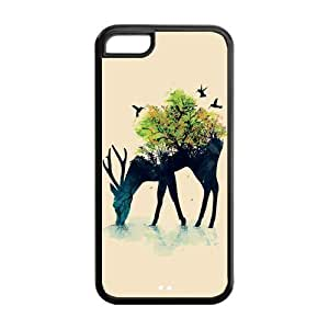 5C Phone Cases, Deer Hard TPU Rubber Cover Case for iPhone 5C