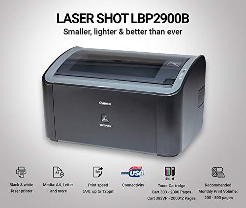 Canon imageCLASS LBP2900B Single Function Laser Monochrome Printer (Black)