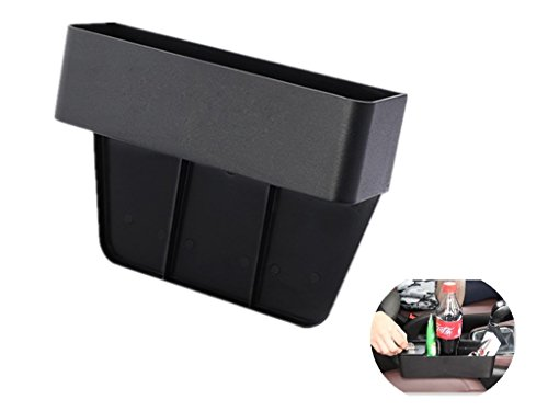 AC Parts Car Console Side Front Seat Filler Gap Organizer Pocket with Coin & Cup Holder for your Cellphone, Sunglasses, Wallet, Coins , Drinks,Cards,keys, Pens,Chargers and other Car Interior