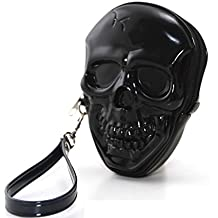 Unique Smiling Skull Head Bone Zippered Wristlet