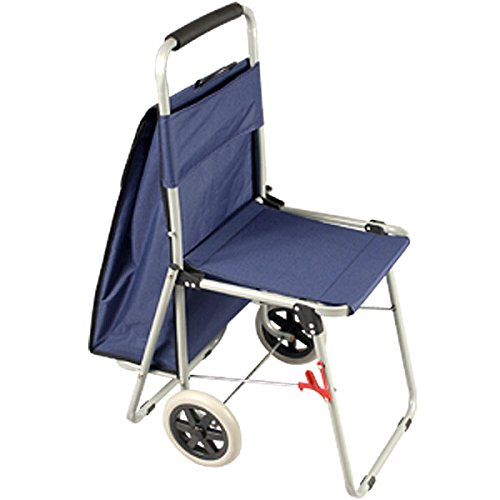 The ArtComber Folding Big Wheeled Portable Rolling Chair/Art Cart With Storage - Blue by Creative Mark