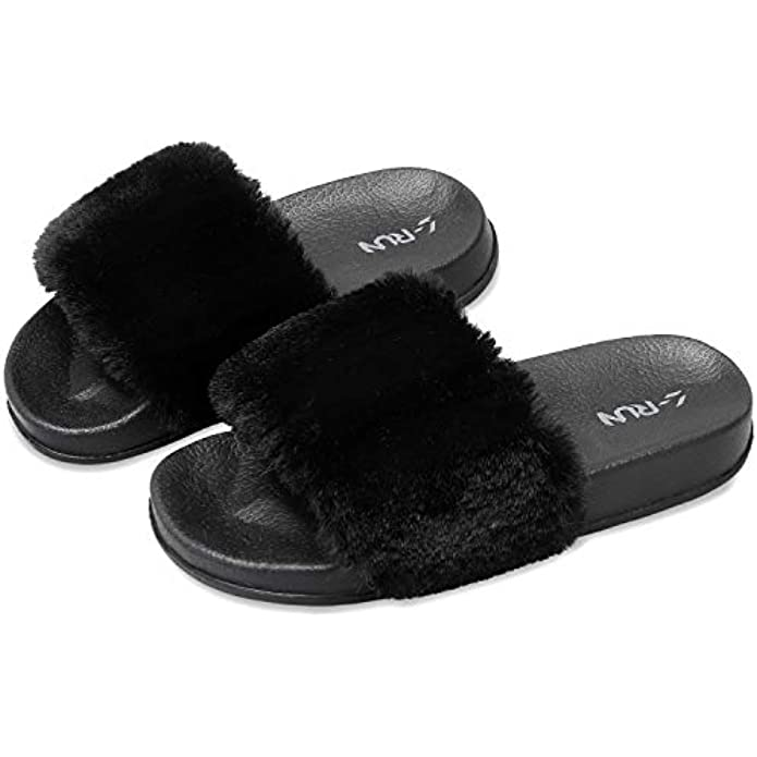 L-RUN Girls Slides Slippers Kids Summer Sandals Shoes Slide Sandal for Toddlers