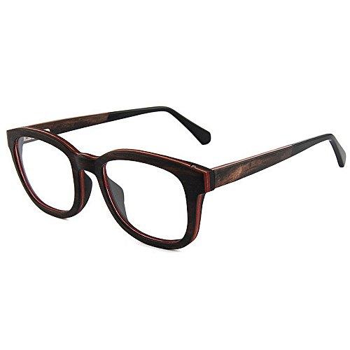 Mano Gafas la los Hechos a Hombres Madera Gafas Personalidad Gimitunus Ligero los Calidad de Gato Ojos de Semi para Alta de de de los vidrios de de Ocio Negro Hombre sin del Ultra rebordes artísticas xxAaw6U