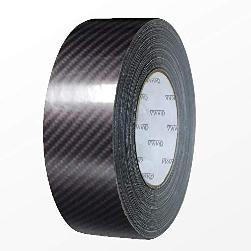 VViViD High Gloss TechArt Black Carbon Fibre Air-Release Vinyl Adhesive Tape Roll (3 Inch x 30ft)