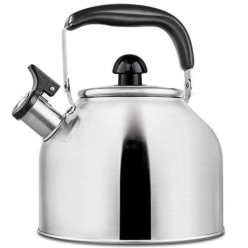 Tea Kettle Whistling Stainless Steel Teakettle for All Stovetop With Ergonomic Handle - 3.9 Quart Whistling Teapot