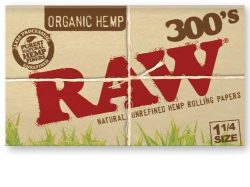 Raw 300 Organic 1.25 1 1/4 Size Rolling Papers 5 Pack = 1500 Leaves by Raw (Image #4)