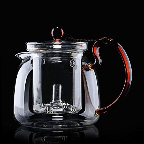 GAOJIN High Heat Resistant Borosilicate Teapot Clear Glass Heat Resistant Eagle Mouth Export Design High Capacity Temperature Difference Thickened Tea Water Separation Design