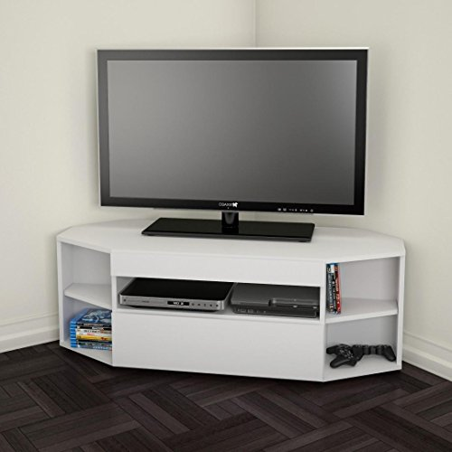 Nexera 226103 Blvd Corner TV Stand, White