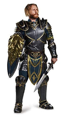 Disguise Men's Warcraft Lothar Prestige Costume, Multi, -