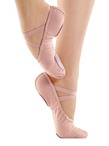 So Danca Professional-Ballettschläppchen, Weite B, Leinen CK pink