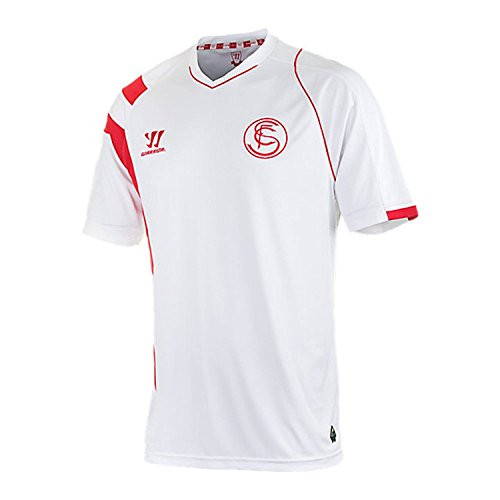 fan products of Warrior Sevilla FC Home Soccer Jersey, White/Red, Size Adult Medium