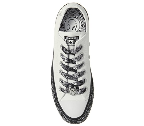 Miley Chuck Sneaker Taylor Black X All Top Converse Cyrus womens mens Womens Lo Star 8 9574 White 6 wgzEnxqI