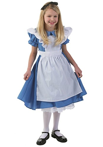 Alice In Wonderland Costume Girls (Child Deluxe Alice (M))