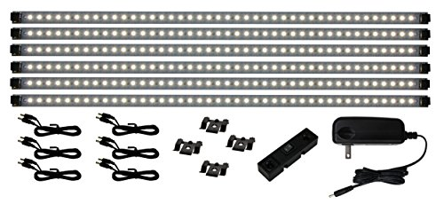 (Inspired LED - Pro Series 42 LED Super Deluxe Kit - 4200K Pure White - Under Cabinet Lighting Kit LED Plug In )