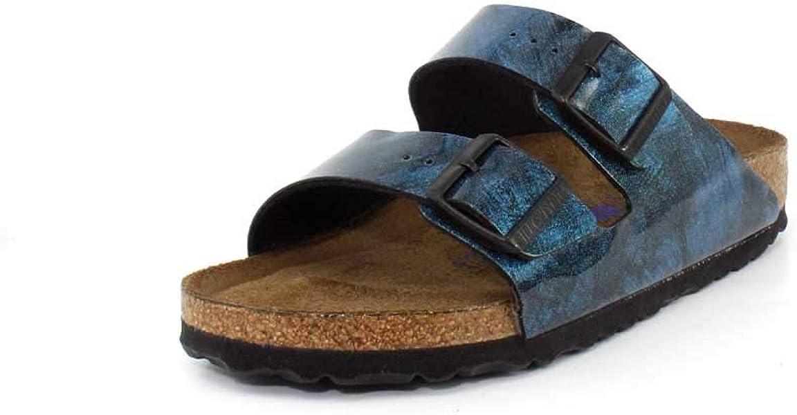 875ce2ee6 Birkenstock Unisex Arizona Soft Footbed Narrow Fit Milky Way Blue Sandal -  40 NAR