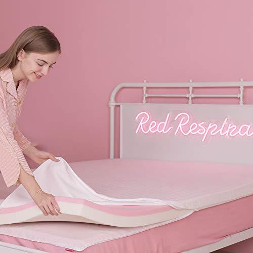 RED RESPIRA 3inchMemoryFoamMattressTopper, 2 – Layer MemoryFoamTopper, Ventilated Design BedTopper, CertiPUR-US – Twin Size