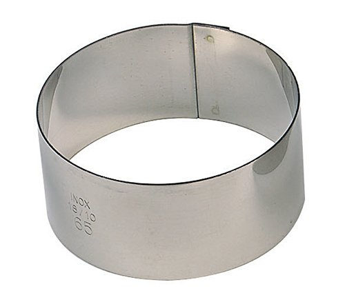 Paderno World Cuisine Pack of 6 Round Stainless Steel Pastry Rings, 1-5/8-Inch 47425-01